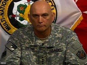 Gen. Ray Odierno says the U.S. is working with Iraq to maintain security improvements as it looks to withdraw.