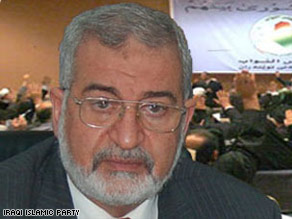 Ayad al-Samarraie, in an undated photo from his party's Web site, was elected speaker of the Iraqi parliament.