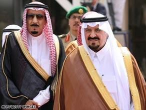 Saudi Crown Prince Sultan bin Abdulaziz Al Saud, right, seen in a 2007 file photo
