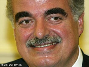 Syria has previously been linked to the murder of former Lebanese Prime Minister Rafik Hariri.
