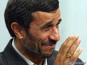 Iranian President Mahmoud Ahmadinejad was re-elected last month, setting off days of protests.