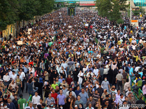 There have been election protests by Iranians, such as this one on June 15.