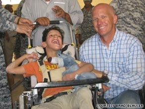 Since 2005, Brad Blauser's Wheelchairs for Iraqi Kids program has distributed nearly 650 free wheelchairs.