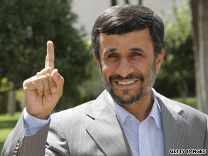 Mahmoud Ahmadinejad was sworn in Wednesday as Iran's president. He begins his second term.