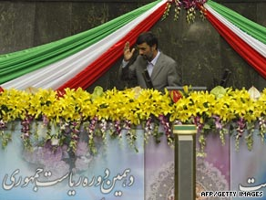 Iranian President Mahmoud Ahmadinejad was sworn in for a second term Wednesday.
