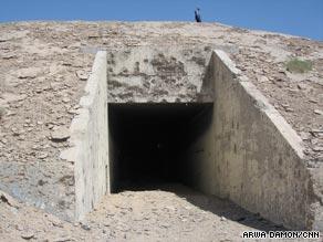 The entrance to the bunker complex where al Qaeda terrorized enemies in Iraq.