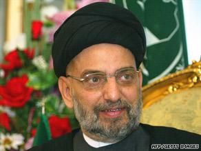 Iraqi Shiite leader Abdul Aziz al-Hakim, seen in a 2007 photo, was an ally of both the U.S. and Iran.