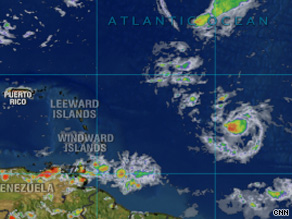 Forecasters expect Tropical Storm Ana to hit the Leeward Islands on Monday.