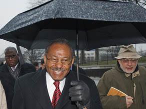Senate-designate Roland Burris is turned away from Senate Tuesday.