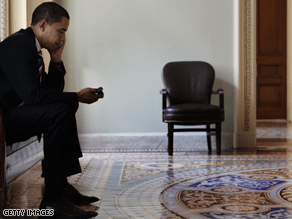 Obama is finding it difficult to give up his BlackBerry.