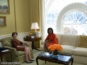 In announcing the Obamas' pick to renovate the East Wing, Mrs. Obama said Mrs. Bush has been a wonderful steward of the White House for the last eight years.