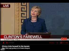 Watch Hillary Clinton's Senate farewell on cnn.com/live.
