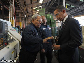 President-elect Obama toured a factory in Ohio Friday and spoke to its employees about reviving the economy.