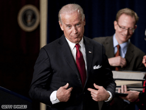 Biden couldn't pass up poking fun at Chief Justice Roberts.