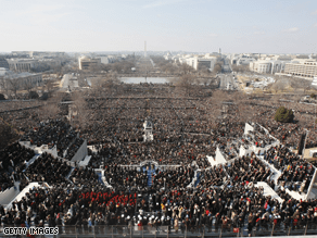1.8 million were on hand to witness Obama's Inauguration.