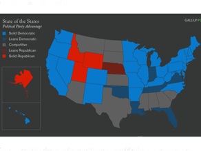 A new analysis shows few 'Red States' remain.