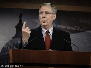 According to the GOP sources, Senate Minority Leader Mitch McConnell, R-Kentucky, wants a 'smaller, narrower' bill.