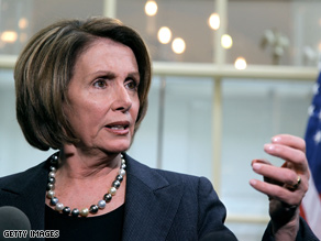 Pelosi and Reid are discussing the stimulus compromise.