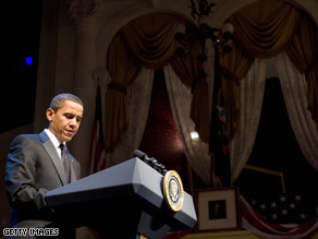 On a trip to Ford's Theater, site of President Lincoln's assassination, Obama paid tribute to the 16th president's ability to recall passages of Shakespeare's Hamlet and Macbeth.