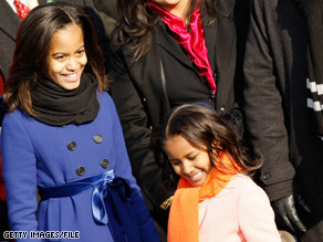 The Obama girls still don't have a puppy, but they did receive another surprise when they arrived home from school Wednesday.'