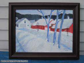 A sample of Bremer's art, which favors farm and country scenes.
