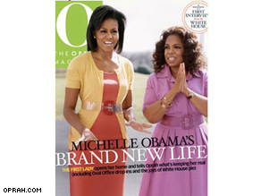 The new cover of O magazine features both Winfrey and Obama.