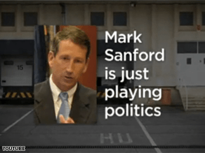 National Democrats are taking on Gov. Sanford in a new ad.