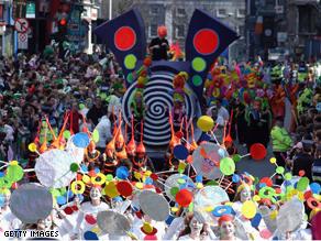 The St. Patrick's Day parade in Dublin, Ireland.