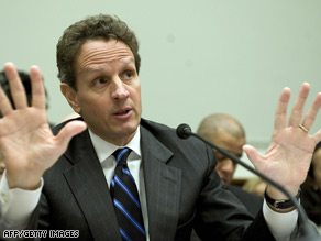 Treasury Secretary Timothy Geithner says he never rides first class.