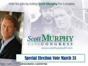 Democratic candidate Scott Murphy is using controversial Republican figures to get voters to come out to the polls on Tuesday.