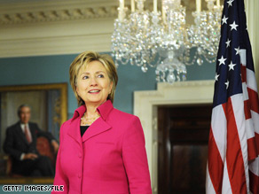 Hillary Clinton said there had been no response to the invitation for Iran to join talks with the U.S. and its allies.