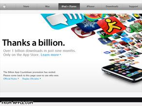 1 billion iPhone apps downloaded