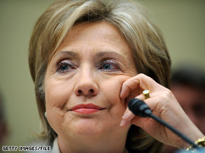 Secretary of State Clinton explained Monday what her agency is doing to respond to the swine flu outbreak.