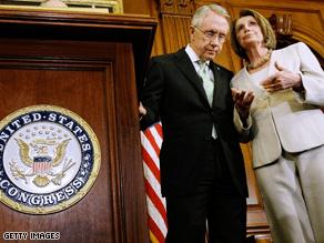 Harry Reid and Nancy Pelosi head up the Democratic leadership.