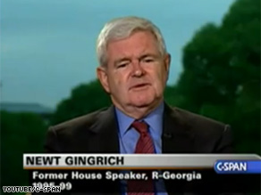 During an interview Thursday, Former House Speaker Gingrich addressed apparent tension between RNC chairman Michael Steele and some members of the GOP's national committee.