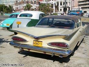 Classic American cars in Havana, Cuba.