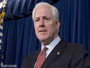 Cornyn, the head of the NRSC, endorsed Crist's Senate bid.