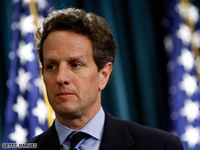Treasury Secretary Geithner is seeking authority to regulate derivatives.