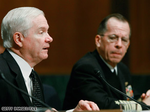 Defense Secretary Gates and Admiral Mike Mullen testified on Capitol Hill Tuesday.
