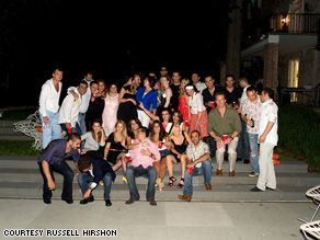 A picture of people at the party David Puente attended in Washington, D.C.