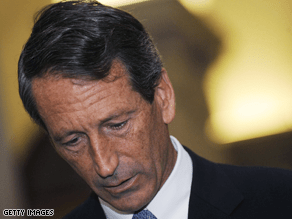 South Carolina Gov. Mark Sanford apologized to his cabinet Friday.
