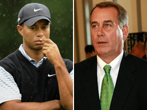 Woods will tee-off with GOP leader John Boehner Wednesday.