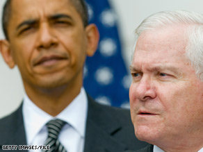 Defense Secretary Gates told reporters he has discussed 'Don't Ask, Don't Tell' with President Obama.