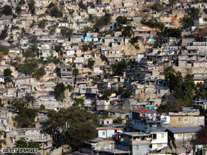 A 2006 picture of poor housing conditions in Port-Au-Prince, Haiti, the poorest country in the western hemisphere. Hundreds of thousands very young children have been handed over to 'host' families to work as Restaveks.