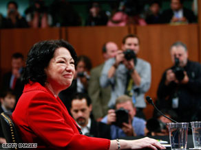 Sonia Sotomayor said Tuesday that the 1973 Supreme Court ruling in Roe v. Wade is a matter of settled law.