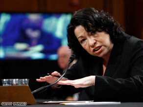 The Senate Judiciary Committee on Tuesday delayed its confirmation vote for Sonia Sotomayor by one week.