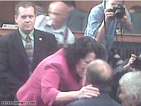 A picture snapped by CNN Political Producer Peter Hamby from his BlackBerry and placed on his Twitter account from the Sotomayor hearings.