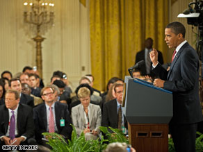President Obama said Wednesday that his opponents were playing politics with health care reform.