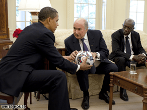 President Barack Obama lobbied the head of soccer's governing body Monday for the World Cup to return to the United States.