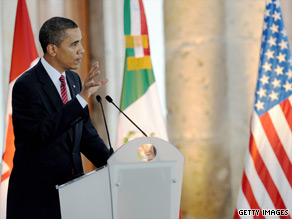 Speaking in Mexico Monday, President Obama said a Canadian model for health care won't work in the United States.